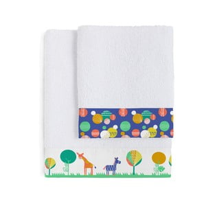Set 2 osušiek Moshi Moshi Geo Jungle, 50 x 100 a 70 x 140 cm