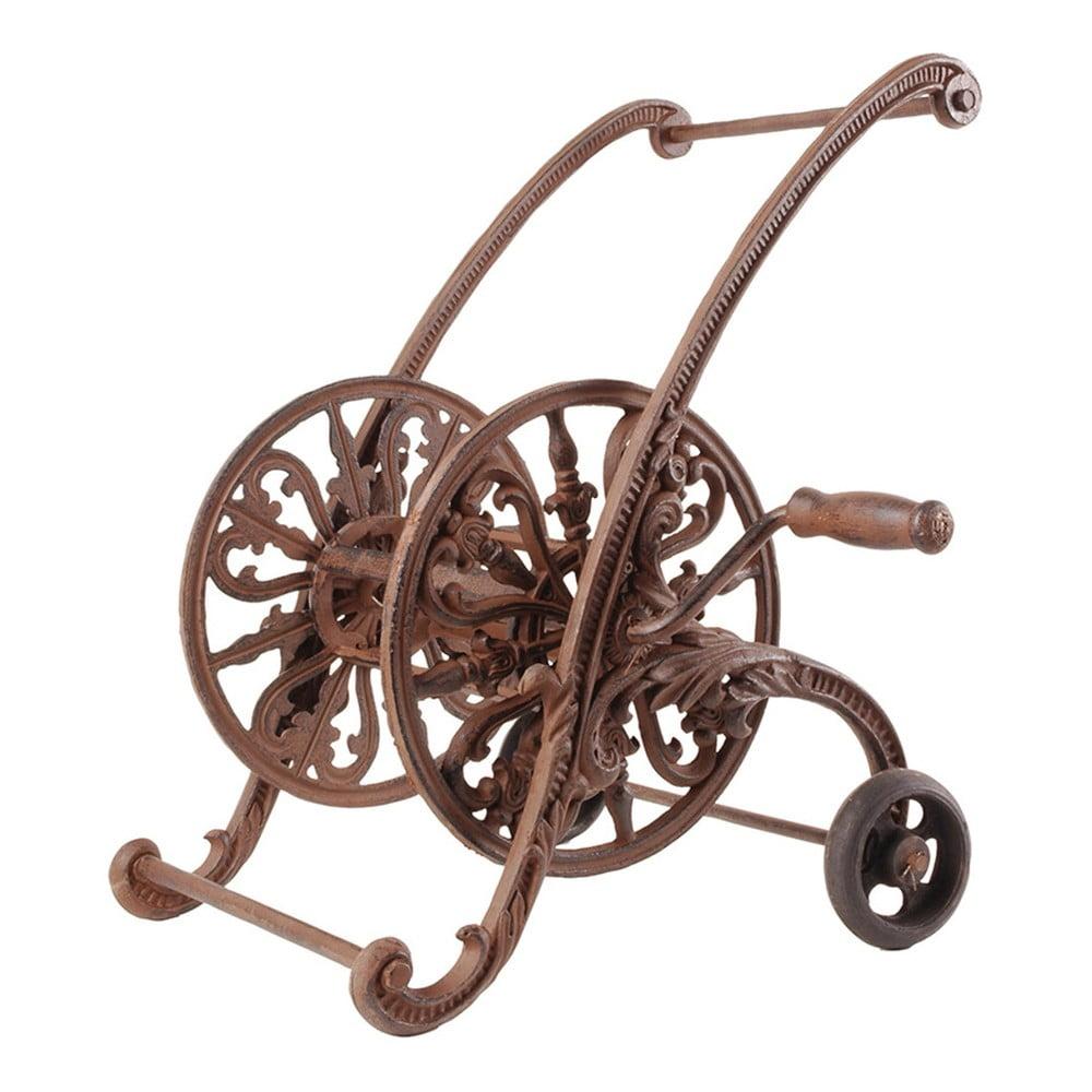 Liatinový navijak na záhradnú hadicu Esschert Design Carriage