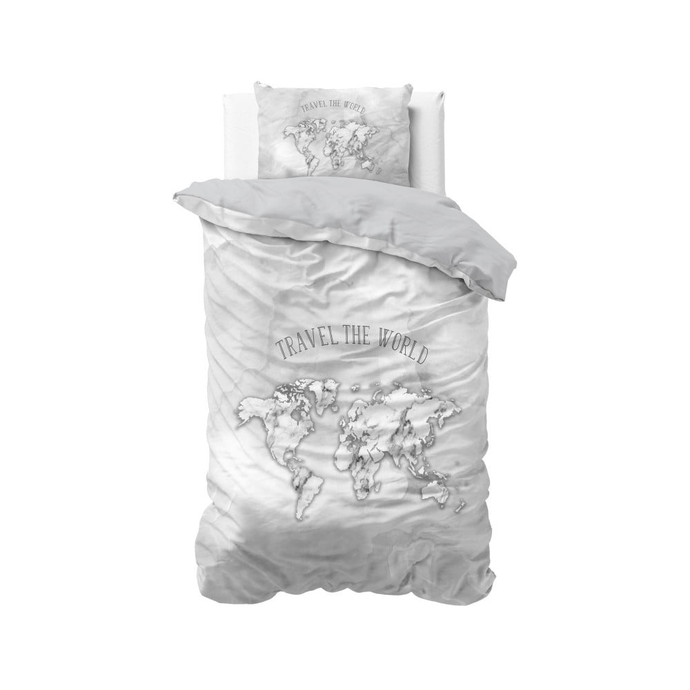 Bavlnené obliečky na jednolôžko Sleeptime World, 140 × 220 cm