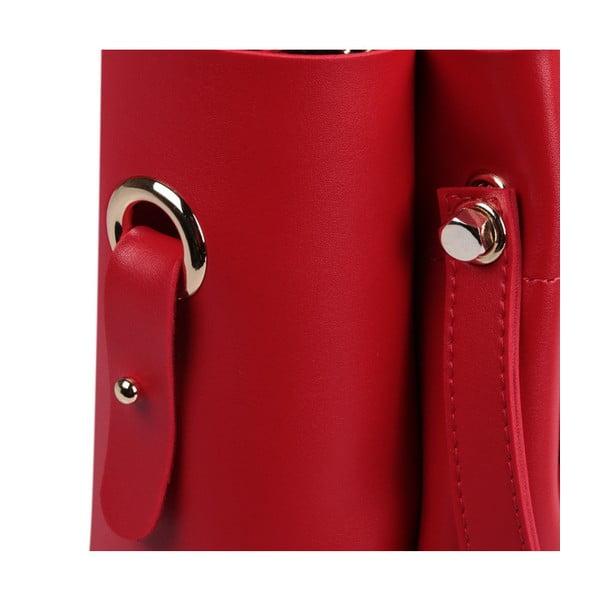 Červená kabelka z eko kože Beverly Hills Polo Club Amy