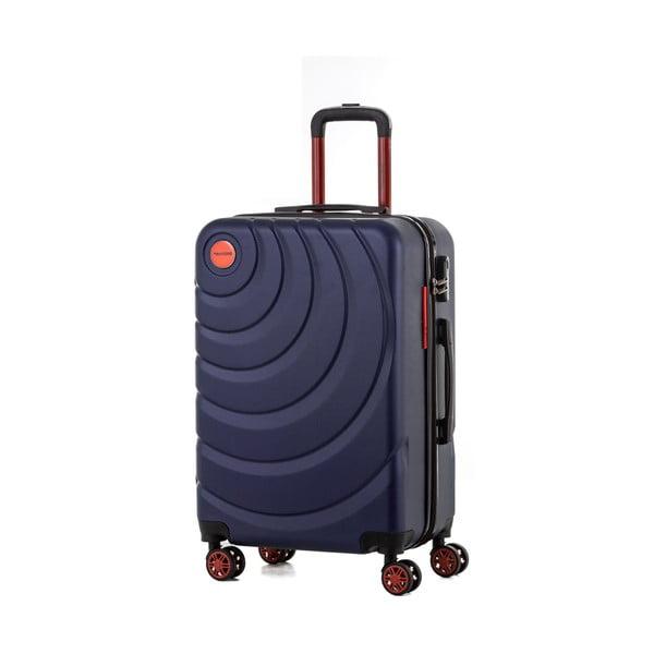 Sada 3 tmavomodrých cestovných kufrov Murano Manhattan