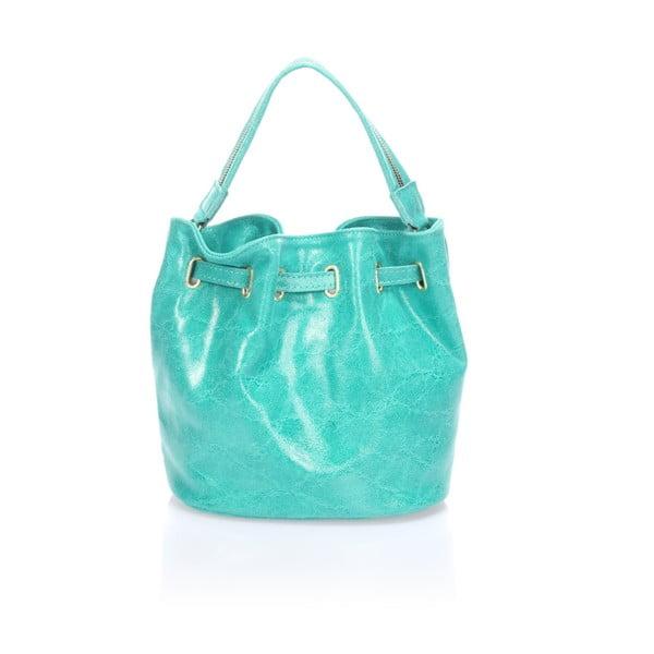Kožená kabelka Prisha, tyrkysová