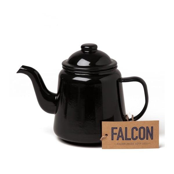 Čierna smaltovaná čajová kanvička Falcon Enamelware, 1 l
