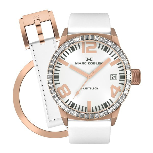 Dámske hodinky Marc Coblen s remienkom a krúžkom na ciferník naviac P59