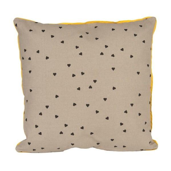 Vankúš Confetti Hearts Grey, 45x45 cm