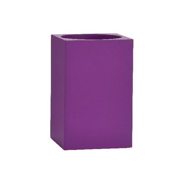 Stojan na zubné kefky Cube, fialový