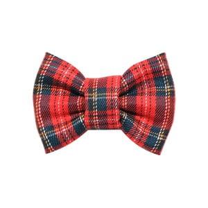 Červeno-zelený károvaný charitatívny psí motýlik Funky Dog Bow Ties, veľ. S