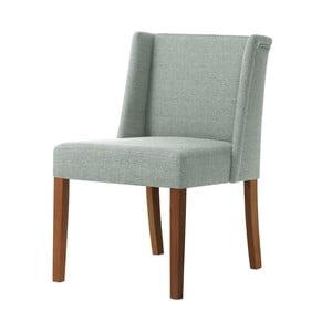 Svetlozelená stolička s tmavohnedými nohami Ted Lapidus Maison Zeste