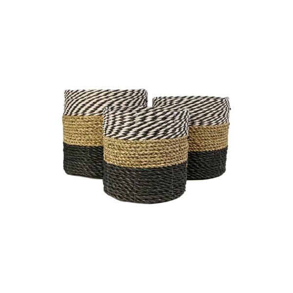 Sada 3 úložných košíkov HSM collection Raffia Duro
