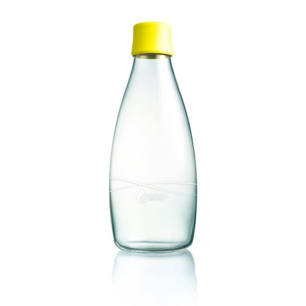 Žltá sklenená fľaša ReTap s doživotnou zárukou, 800ml