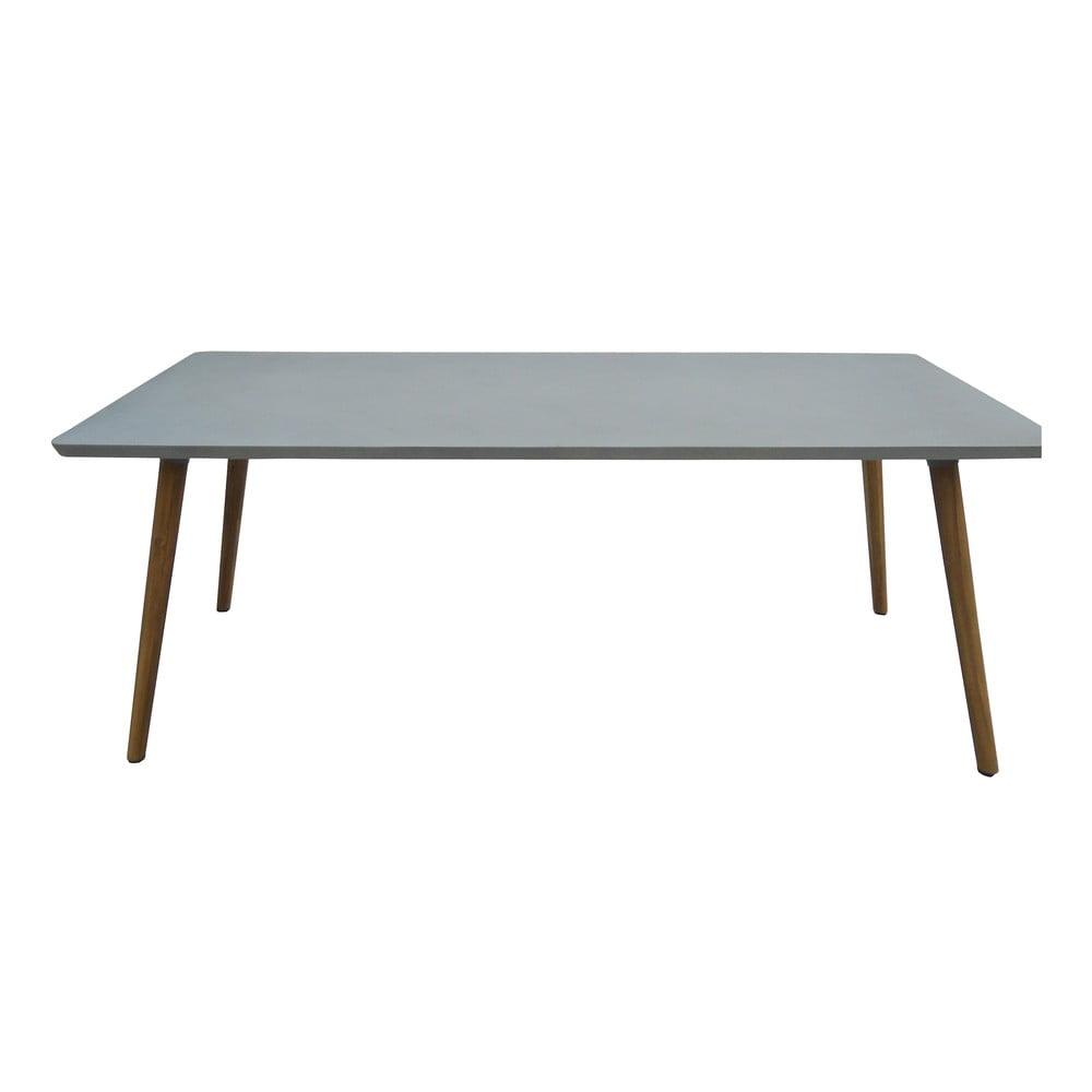 Sivý záhradný jedálenský stôl pre 6 osôb Ezeis Clipper