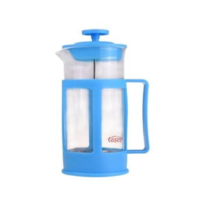 Modrý french press na kávu a čaj Bambum Magic, 350 ml