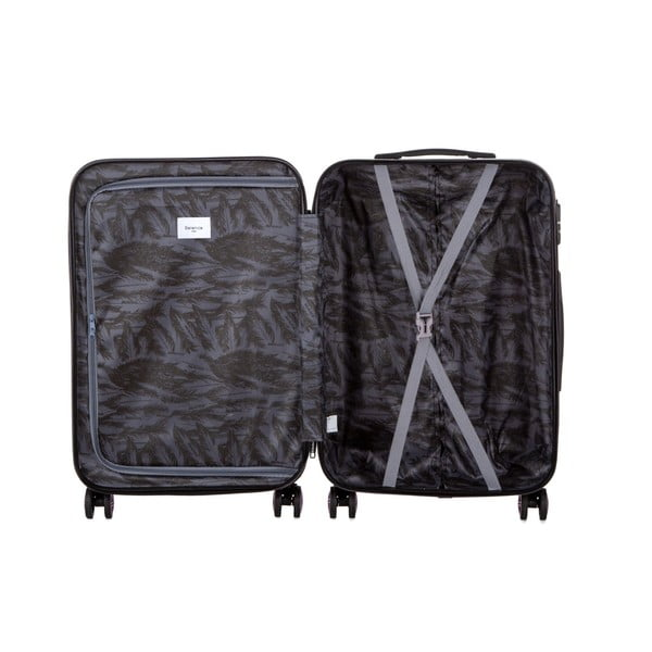 Modrý cestovný kufor Berenice Wingy, 71 l