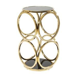 Odkladací stolík v zlatej farbe Kare Design Circuit, ⌀32cm