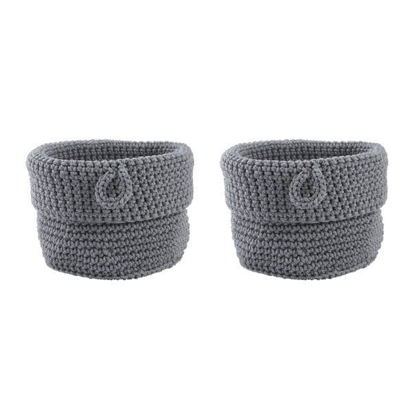 Sada 2 košíkov Confetti Grey, 13 cm