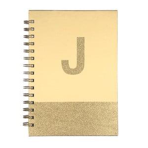 Špirálový zápisník Tri-Coastal Design Monogram J