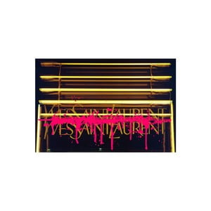 Obraz Why SL Neon Drip Pink, 41 x 61 cm