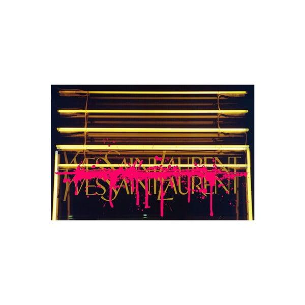 Obraz Why SL Neon Drip Pink,  81 x 122 cm