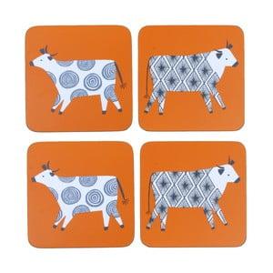 Sada 4 podložiek Curious Cows