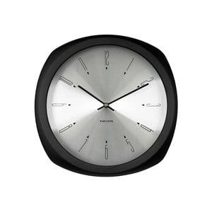 Čierne hodiny Present Time Aesthetic Square