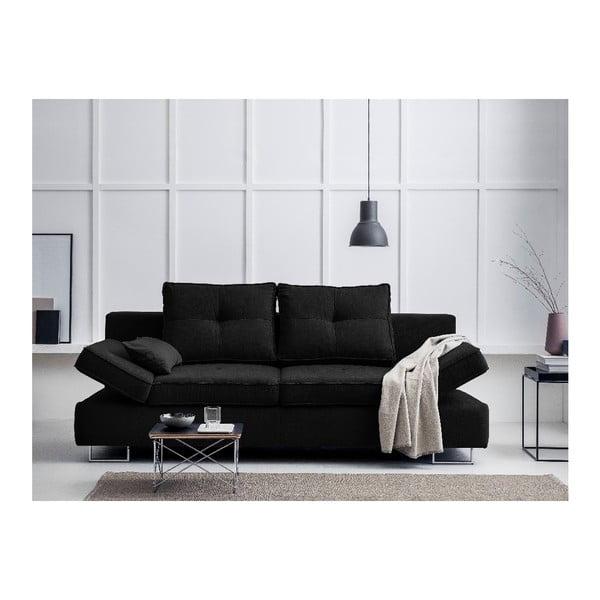 Čierna dvojmiestna rozkladacia pohovka Windsor & Co Sofas Iota