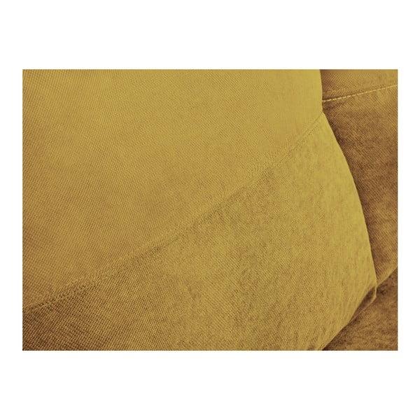 Žltá trojmiestna rohová rozkladacia pohovka s úložným priestorom Melart Andy