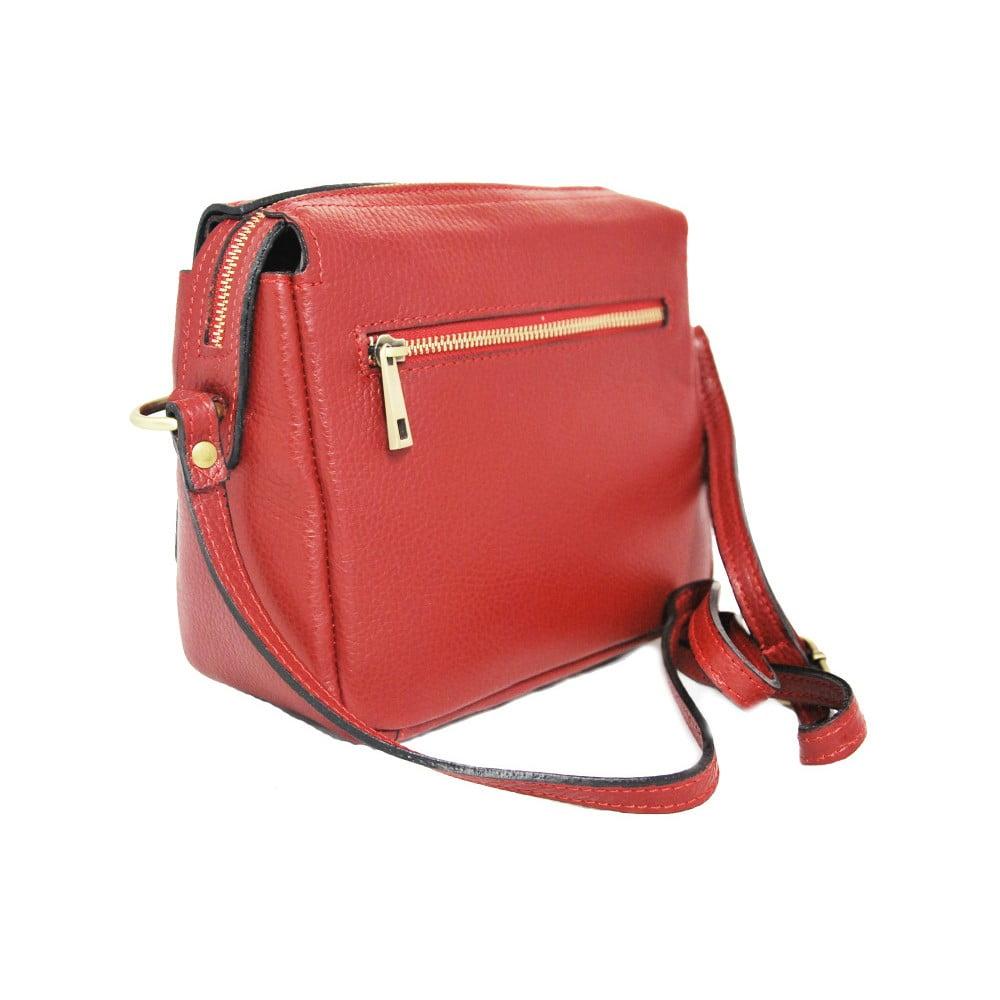 4f3b7ab347 Červená kožená kabelka Luciano Calboni Sara ...