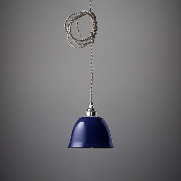Závesné svetlo Miniature Bell Midnight Blue