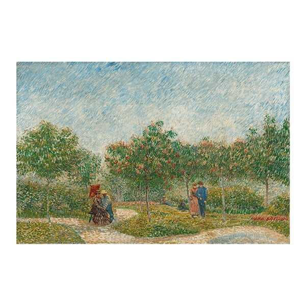 Obraz Vincenta van Gogha - Garden with Courting Couples- Square Saint-Pierre, 40x26 cm