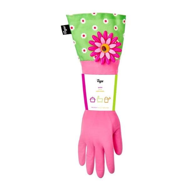 Rukavice na upratovanie Vigar Pink Flower