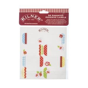 24 štítkov na nádoby na zaváranie Kilner