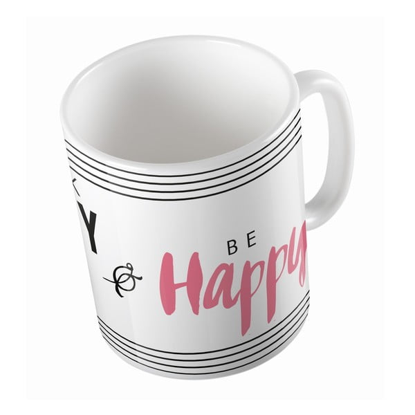 Keramický hrnček Think Happy, 330 ml