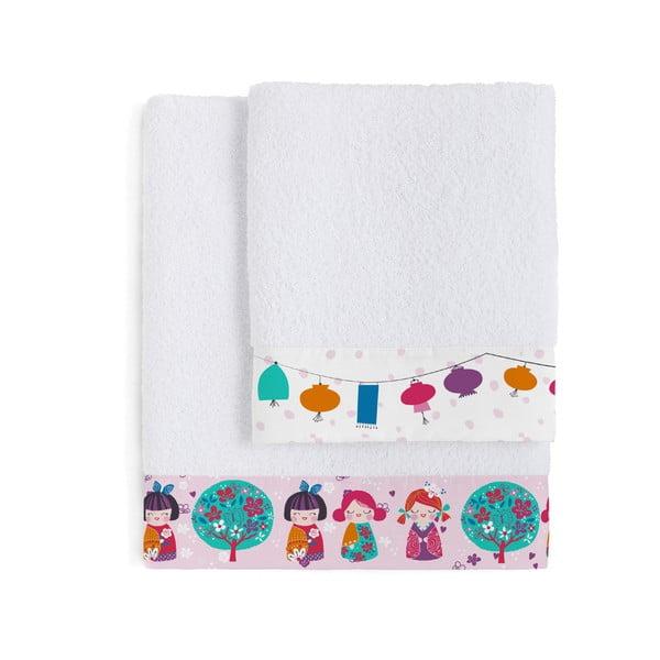 Set 2 osušiek Moshi Moshi Cherry Blossom, 50x100 a 70x140cm