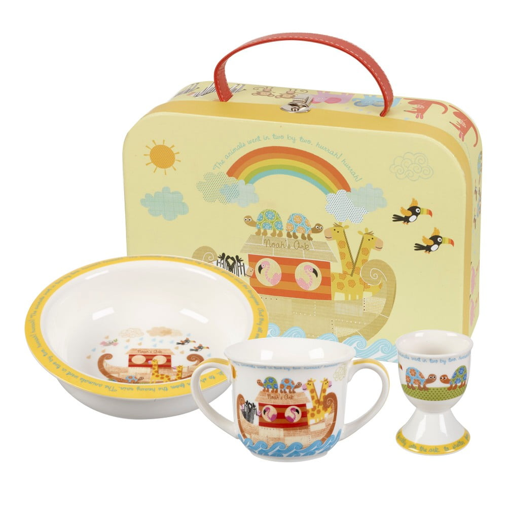 Detský raňajkový set z kostného porcelánu Churchill China Noemova Archa