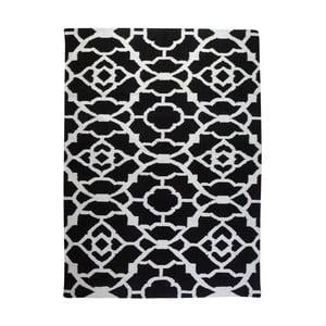 Vlnený koberec Geometry Vintage Black&White, 160x230cm