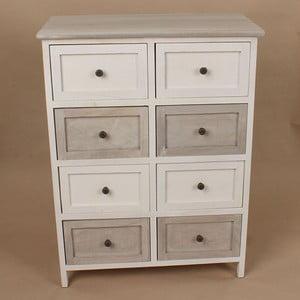Drevená komoda White and Grey, 58x76 cm
