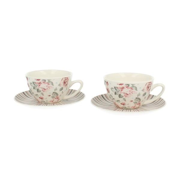 Sada 2 porcelánových šálok Duo Gift Růžička, 250 ml