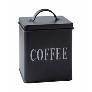 Plechová dóza Coffee Black, 14x11,5 cm