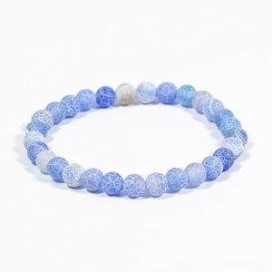 Modrý náramok z prírodných minerálov s achátom Yogaly Tranquility