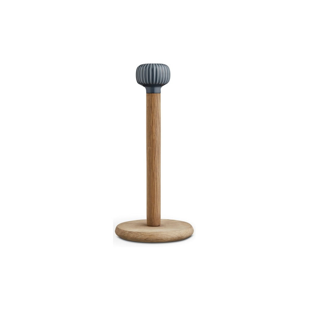 Stojan na papierové utierky z dubového dreva s antracitovým detailom z porcelánu Kähler Design Hammershoi