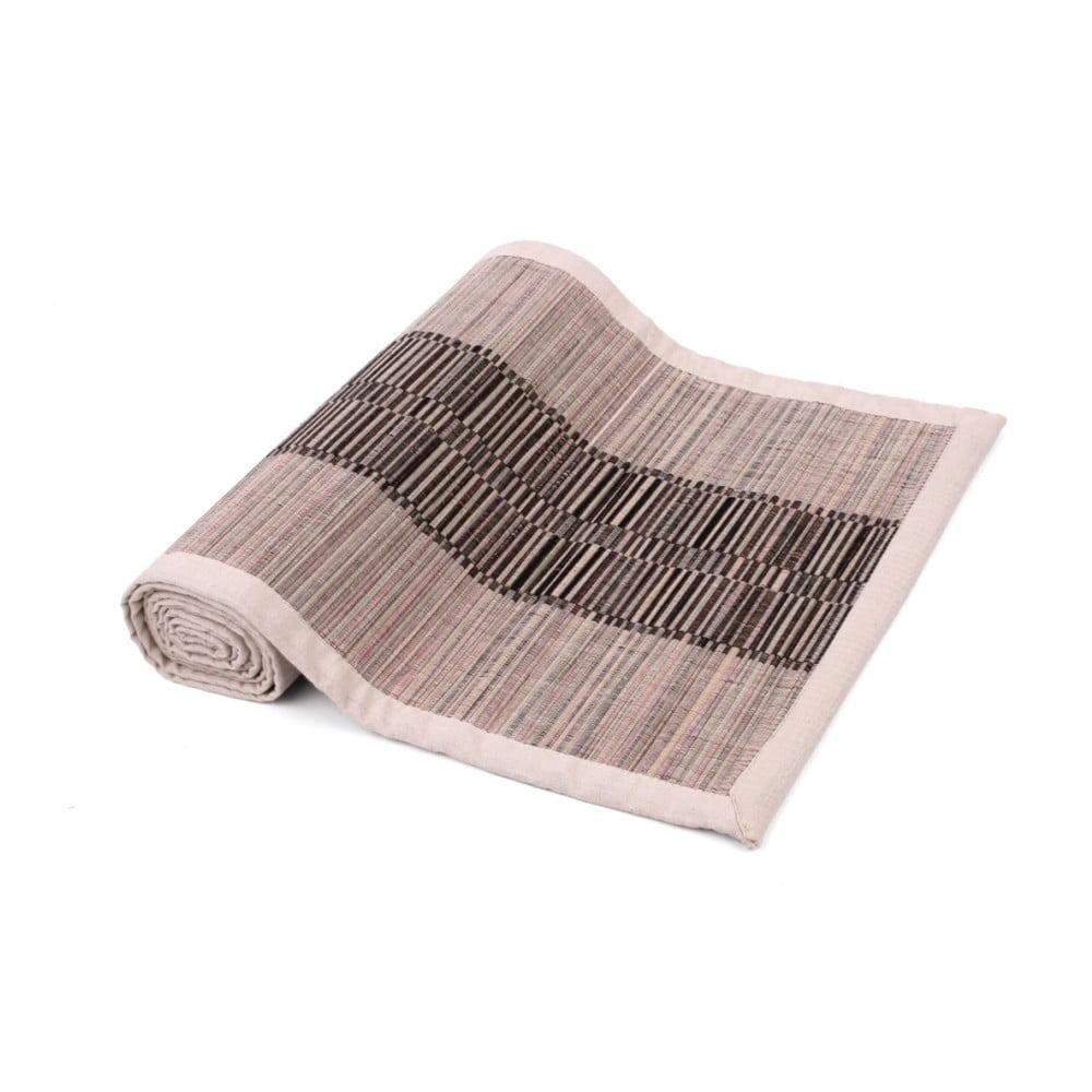 Hnedý behúň na stôl zo slamy a bavlny Ladelle Akita, 33 x 150 cm