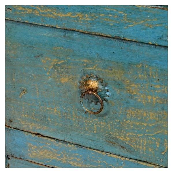 Drevená komoda Goa, modrá