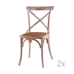 Sada 2 drevených jedálenských stoličiek sømcasa Ariana