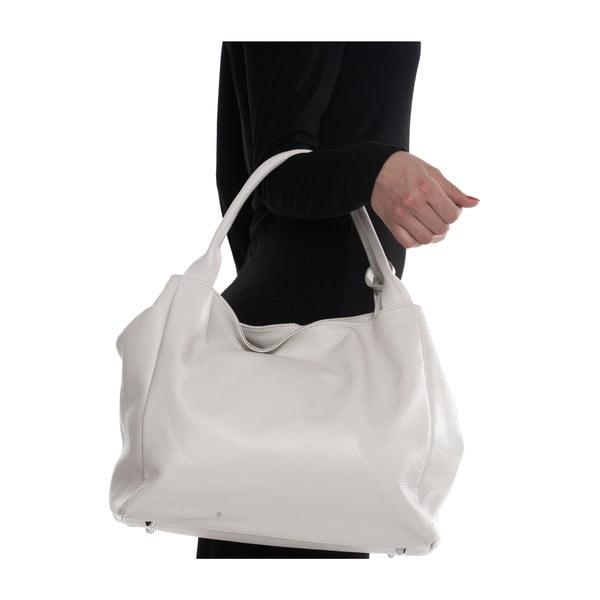 Kožená kabelka Mangotti 1110, bílá
