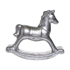 Dekoratívny hojdací kôň v striebornej farbe Ewax, výška 11,8 cm
