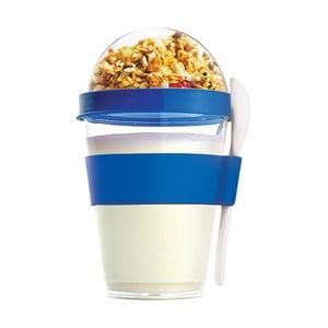 Modrý desiatový téglik Yo2GO, nová edícia 360 ml