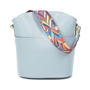 Svetlomodrá kožená kabelka Luisa Vannini Clorinda