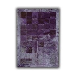 Koberec z pravej kože Plain Violet, 140x200 cm