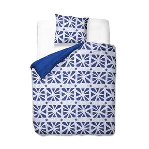 Modro-biele obliečky z mikrovlákna DecoKing Crack, 135×200cm