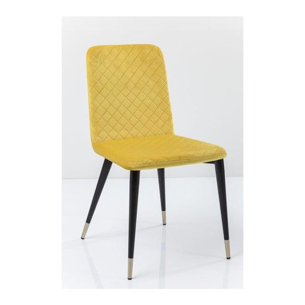 Sada 2 žltých jedálenských stoličiek Kare Design Montmartre